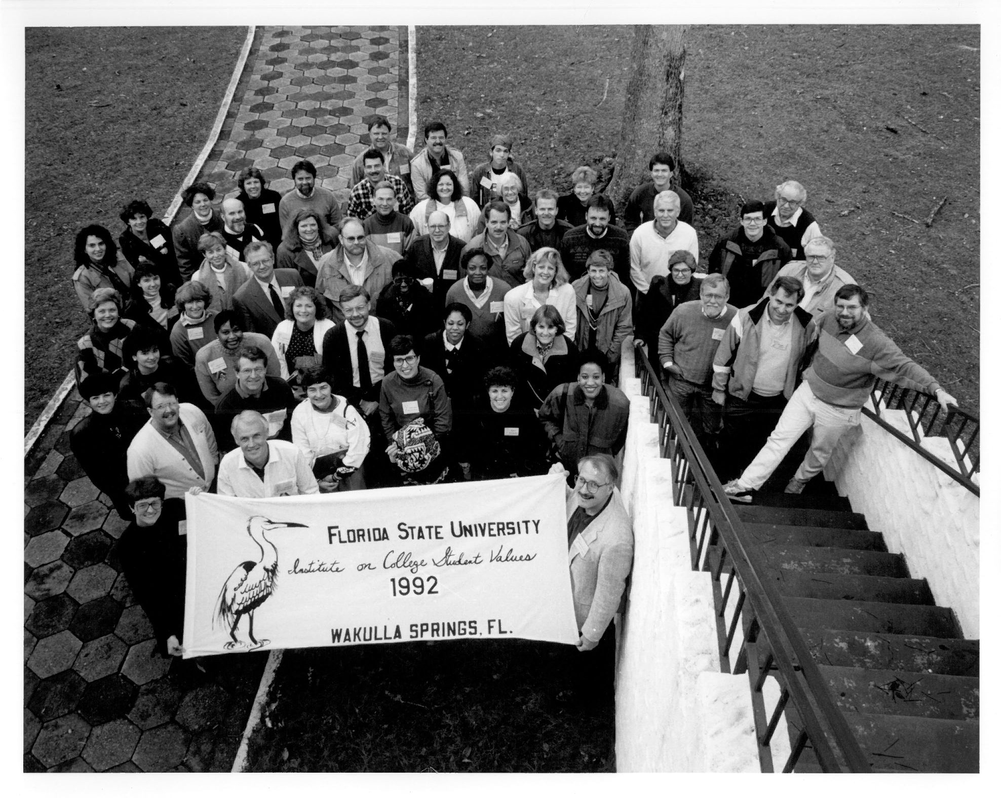 Participants at the 2nd annual Institute on College Student Values in 1992 (the Institute was re-named in honor of its founder in 2010).